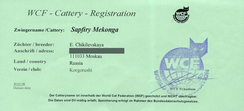 Регистрационное свидетельство